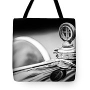 1932 Alfa Romeo Hood Ornament - Motometer -1364bw Tote Bag by Jill Reger