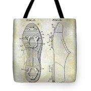 1932 Baseball Cleat Patent Tote Bag
