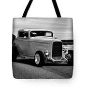1932 Ford Coupe 'black And White' Tote Bag