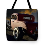 1932 Ford Five Window Coupe 'leaving Town' Tote Bag