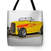 1932 Ford 'flame Game' Roadster Tote Bag