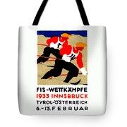 1933 Austrian Ski Race Poster Tote Bag