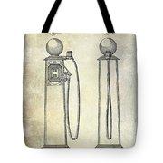 1933 Gas Pump Patent Tote Bag