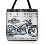 1933 Hd 74 Big Twin Tote Bag