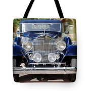 1933 Packard 12 Convertible Coupe Tote Bag
