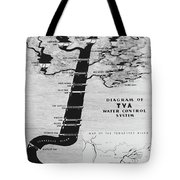 1933 Tennessee Valley Authority Map Tote Bag