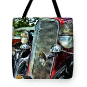 1934 Chevrolet Head Lights Tote Bag by Paul Ward