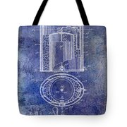 1935 Beer Equipment Patent Blue Tote Bag