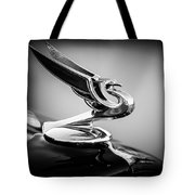1935 Chevrolet Sedan Hood Ornament -0116bw Tote Bag