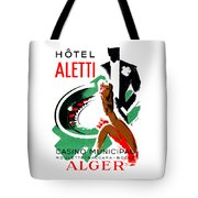 1935 Hotel Aletti Casino Algeria Tote Bag