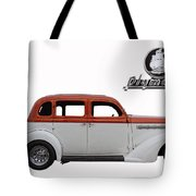 1935 Plymouth With Insignia Tote Bag