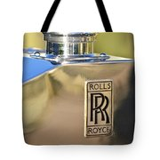 1935 Rolls-royce Phantom II Hood Ornament Tote Bag by Jill Reger