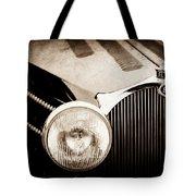 1936 Bugatti Type 57s Corsica Tourer Grille Emblem -1673s Tote Bag