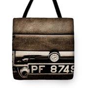 1936 Bugatti Type 57s Corsica Tourer License Plate -0067s Tote Bag