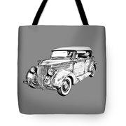 1936 Ford Phaeton Convertible Illustration  Tote Bag