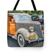 1936 Ford V8 Woody Station Wagon Tote Bag