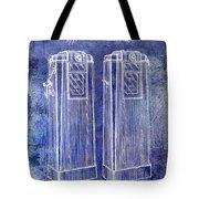 1936 Gas Pump Patent Blue Tote Bag