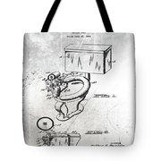 1936 Toilet Bowl Patent Antique Tote Bag