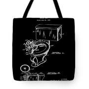 1936 Toilet Bowl Patent Black Tote Bag