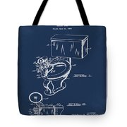 1936 Toilet Bowl Patent Blue Tote Bag
