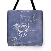 1936 Toilet Bowl Patent Blue Grunge Tote Bag