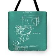 1936 Toilet Bowl Patent Green Tote Bag