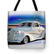 1937 Chevrolet Coupe 'accent Graphics' Tote Bag