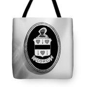1937 Cord 812 Sc Phaeton Emblem -1203bw2 Tote Bag