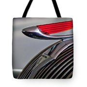 1937 Hudson Terraplane Sedan Hood Ornament Tote Bag