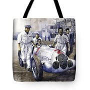 1937 Italian Gp Mercedes Benz W125 Rudolf Caracciola Tote Bag