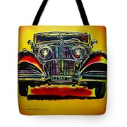 1937 Mercedes Benz First Wheel Down Tote Bag by Eric Dee