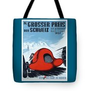 1937 Switzerland Grand Prix Racing Poster Tote Bag
