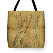1938 Battleship Patent Tote Bag