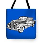1938 Cadillac Lasalle Illustration Tote Bag