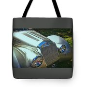 1938 Delage D8 - 120 Aerodynamic Coupe Front Grill Tote Bag