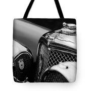 1938 Jaguar Ss100 3.5-liter Roadster Grille Tote Bag