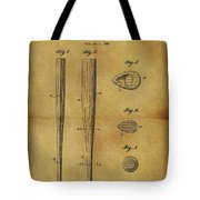 1939 Baseball Bat Patent Tote Bag