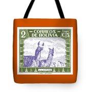 1939 Bolivia Llamas Postage Stamp Tote Bag by Retro Graphics