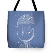 1939 Bowling Ball Patent - Light Blue Tote Bag