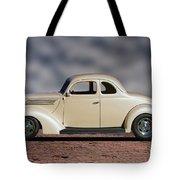 1939 Chevrolet White Coupe Tote Bag