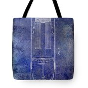 1939 Fire Truck Patent Blue Tote Bag