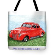 1939 Ford Standard Coupe Tote Bag