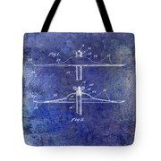 1940 Cymbal Patent Blue Tote Bag
