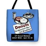1940 Donut Poster Tote Bag
