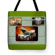 1940 Mercury Convertible Vintage Classic Car Painting 5238.02 Tote Bag