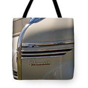 1940 Plymouth Hood Ornament 2 Tote Bag