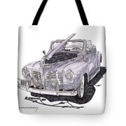 1940 Plymouth P 1 Convertible Tote Bag