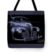 1940 Torpedo Coupe B/w Tote Bag