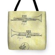 1940 Trumpet Patent Tote Bag
