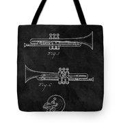 1940 Trumpet Patent Illustration Tote Bag